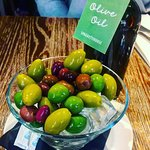 Delicious selection of olives to start the meal