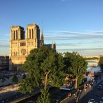 Beautiful evening sun drenched Notre Dame.
