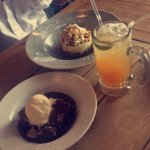 Amazing desserts! And the drink is Watermelon iced tea
