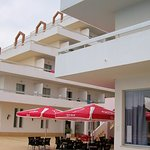 Veiw of snack bar pool area