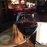 great wine and my I-Pad and bread