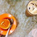 white cofee and eggs custard RM4.90