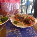 Salad & tacos at Pasion Latin Fusion Restaurant