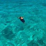 Having a break Spearfishing in Cozumel Mexico