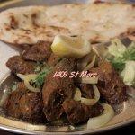 Lamb brochette Kebab