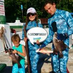 Family Spearfishing in Cozumel Mexico