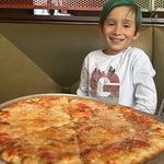 Plain cheese pizza -- kids loved it!