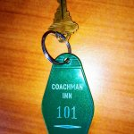 "Old-skool room key. If you've read ""1984"" don't worry, Room 101 is actually OK. :-)"