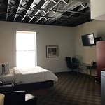The loft has a nice urban feel. The rooms are big and the bed is comfortable. Nice staff too