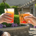 Enjoy cocktails on our terrazza