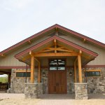 The front entrance of the new Mountain View Vineyard Winery.