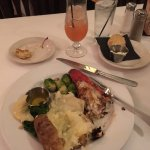 Lobster tail, baked potato