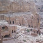 View of Petra from Stairs to High Place of Sacrifice