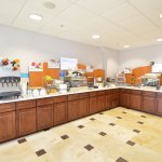 New larger Breakfast Bar with many healthy choices