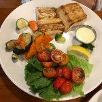 Mahi Mahi with Roasted Vegetables and Tomatoes