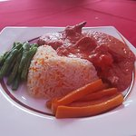 Chicken, Lamb and Prawn special. YUM