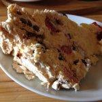 Meringue Cake contains fresh fruit and cream