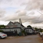 The White Hart Inn's car park.