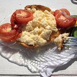 Scrambled eggs, simple food cooked perfectly