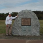 The exact spot where Orville Wright lifted off on man's first powered flight.
