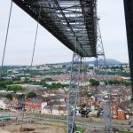 Looking across the Transporter Bridge from the East Stairway.