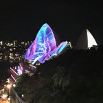 Garden view of the Opera House from 10th floor during Vivd