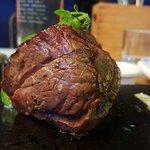 Fillet steak on the stone