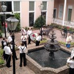 Dixieland jazz band playing in the courtyard!
