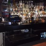 The bar with a great selection of tequila.