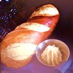 Pretzel loaf with butter