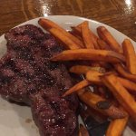 NY Strip Steak w/Sweet Potato Fries