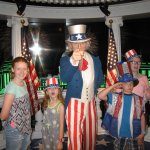 The grandkids meet Uncle Sam!