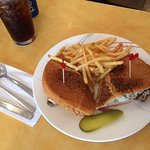 Philly cheesesteak on pita