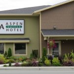 Hotel exterior located in the heart of downtown Haines!