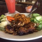 Jerk chicken dish.