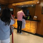 Busy frontdesk during check-in hours. Long queue on a weekend.