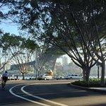 Road cycling under the Sydney Harbour Bridge