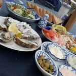 Simply beautifull..seafood platter and ousters