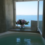 downstairs bathroom in wet allure suite...hot tub with view to die for!