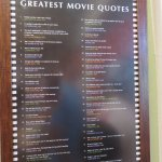 You can read 101 Great Movie Quotes while you wait in line for service