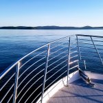 Looking off the bow of the boat towards the beautiful San Juan Island!