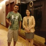With Crystal Club Staff Ms. Qiuni