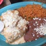 Cafe Coyote main course (enchilada)