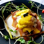 Egg Benedict with homemade sauce Hollandaise