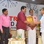 Spice 7 M.D recieving award from MLA,Shri Mukesh and Kollam Mayor,shri Rajendra babu