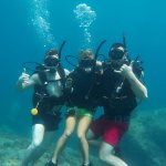 Diving with our instructor Kamila