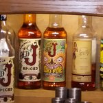 """The """"Old J"""" spiced rum on the right of the three is so smooth"""