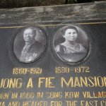 plaque for the mansion