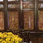 carved wood room separator