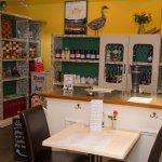 Lower cafe area